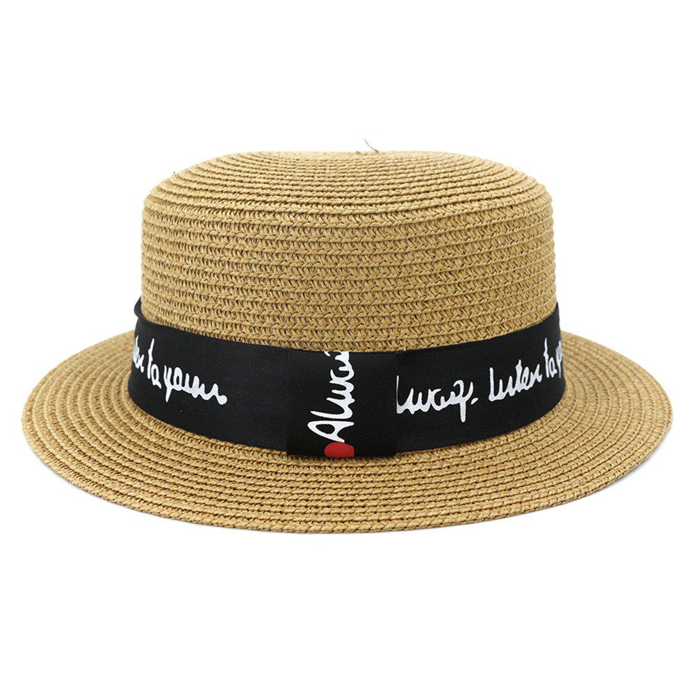 Outfits XPD001Holiday Beach Hat Straw Hat Men and Women Flat-topped Sun Hat