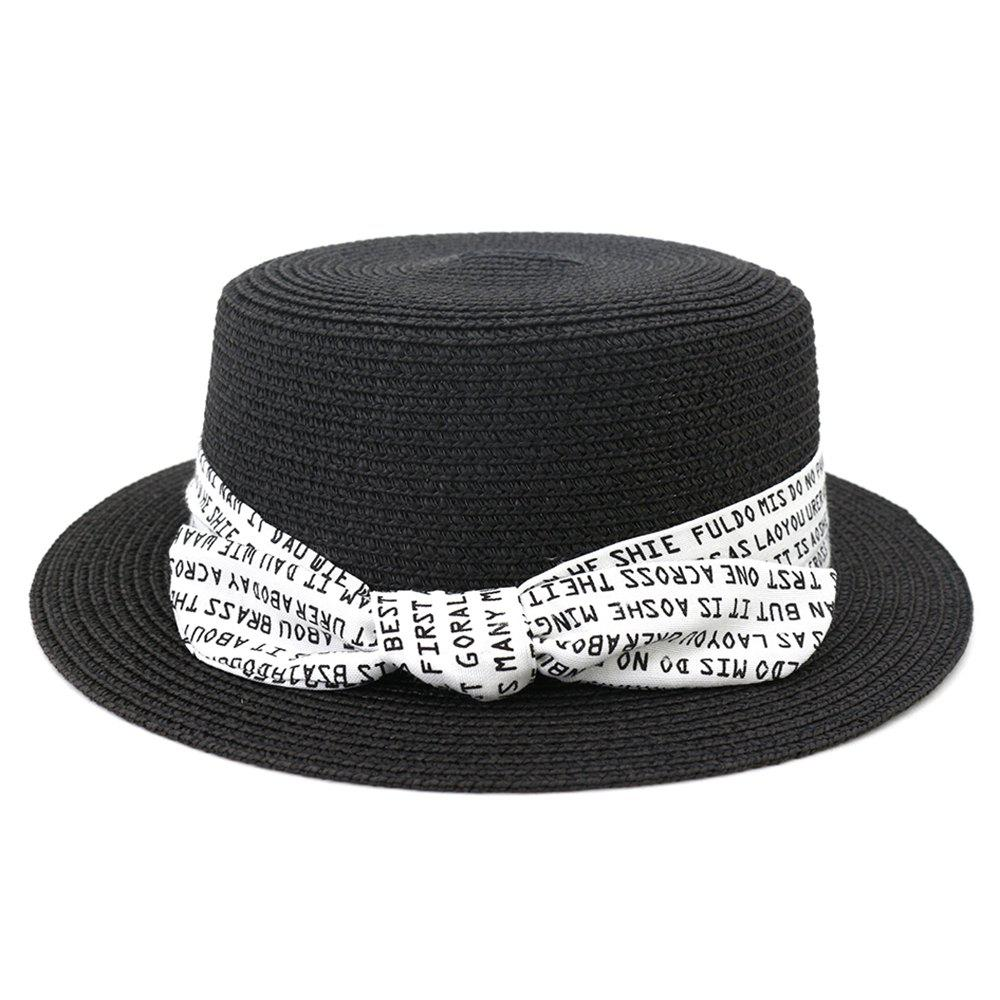 Hot XPD002 Sun Hat Flat-topped Men Women Beach Hat Straw Hat
