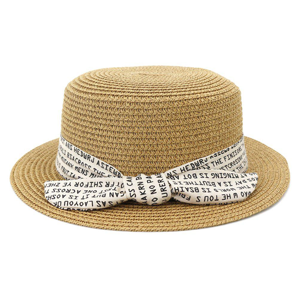 Chic XPD002 Sun Hat Flat-topped Men Women Beach Hat Straw Hat