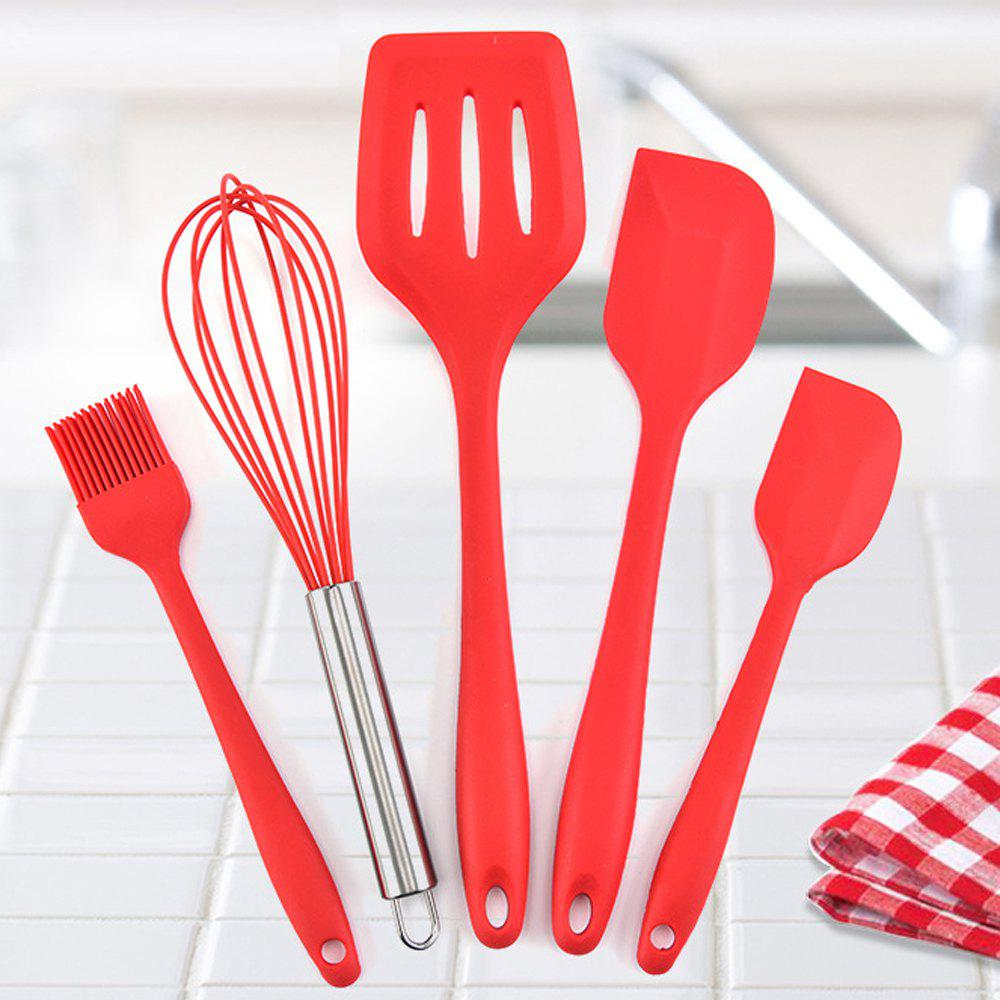 Best 5PCS Silicone Kitchen Utensil Non-stick Cooking Tools