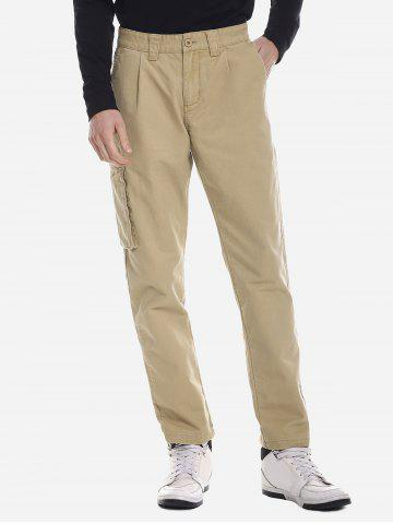 ZANSTYLE Men Side Pocket Belted Pants