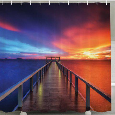 Setting Sun Print Shower Curtain