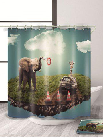 Elephant Imprimer Waterproof mouldproof Rideau de douche