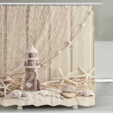 30 Off 2018 Beach Print Waterproof Mouldproof Shower Curtain Rosegal