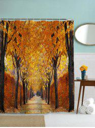 Autumn Leaves Print Waterproof Mouldproof Shower Curtain