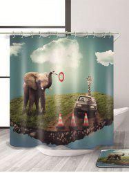 Elephant Imprimer Waterproof mouldproof Rideau de douche -