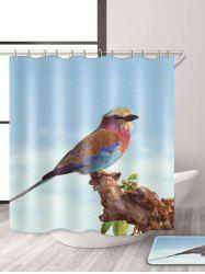 Bird Print Waterproof Mouldproof Shower Curtain