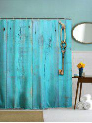 Thicken Woody Door Polyester Shower Curtain with Hooks