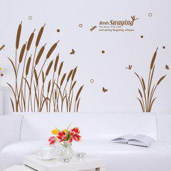 Reed Swaying Pattern Large Wall Stickers For Bedrooms