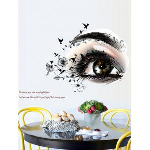 Artistic Eye Design Removable Personalised Vinyl Wall Stickers