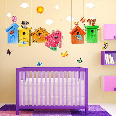 Cartoon Birdcage Wall Stickers For Kids Room