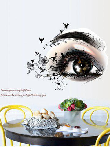 Artistic Eye Design Removable Personalised Vinyl Wall Stickers - Colormix