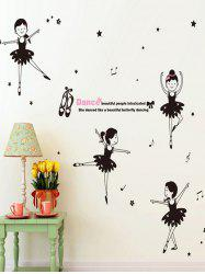 Dancing Girls Home Decor Wall Art Sticker