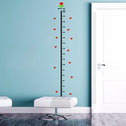 Hearts Pattern Kids Height Wall Stickers