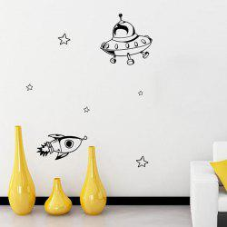Cartoon Airship Removable Kids Room Decor Wall Stickers