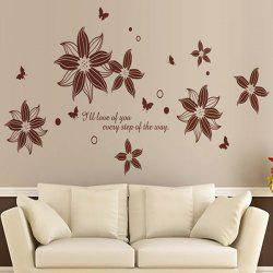 DIY Flower English Quote Removable Personalised Vinyl Wall Stickers