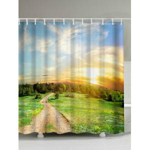 Bath Decor Nature Scenery Water Repellent Shower Curtain - Colormix - 200*180cm