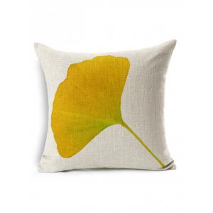 Gingko Leaf Linen Throw Pillow Cover