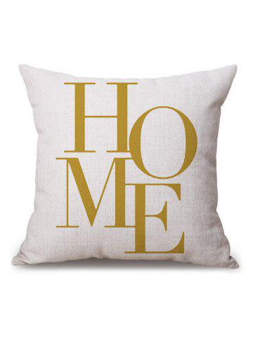 Fashion Home Word Letter Pillow Case - 45*45CM WHITE AND GOLDEN Mobile