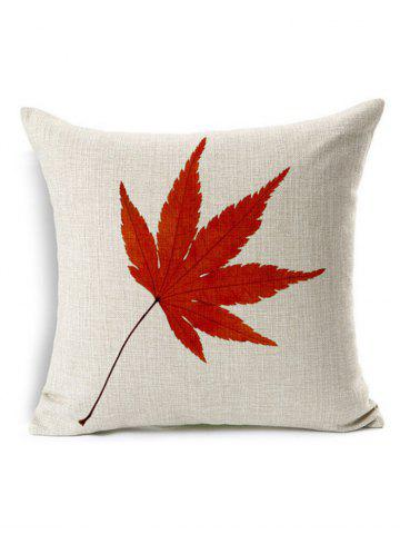 Online Maple Leaf Throw Pillow Case Cover - 45*45CM PALOMINO Mobile