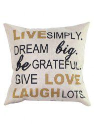 Letters Pillow Case - COLORMIX