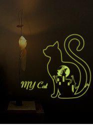 Luminous Cat Pattern Wall Sticker
