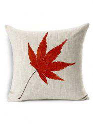 Maple Leaf Throw Pillow Case Cover - PALOMINO