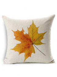 Leaf Print Decorative Throw Pillow Case