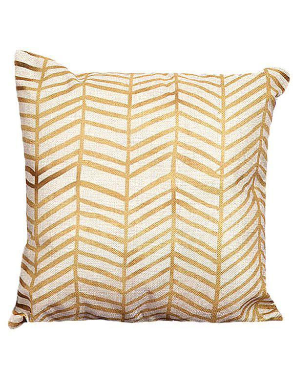 Sofa Cushion Pillow CaseHOME<br><br>Size: 45*45CM; Color: YELLOW + GOLDEN; Material: Polyester / Cotton; Pattern: Geometric; Style: Modern/Contemporary; Shape: Square; Size(CM): 45*45CM; Weight: 0.1000kg; Package Contents: 1 x Pillow Case;