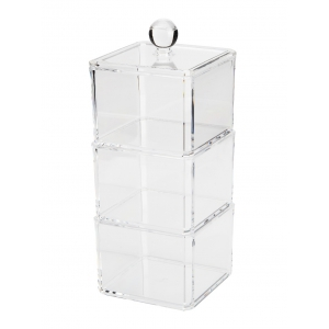 Maquillage de bureau détachables Maquillage de stockage Organizer - Transparent