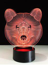 Color Change LED 3D Bear Touch Night Light