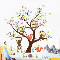 Cartoon Monkey Squirrel Wall Art Children Room Decor Stickers