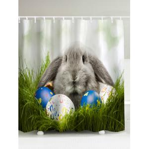 Easter Egg Rabbit Water Resistant Shower Curtain - Colormix - 180*200cm