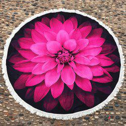 Layered Flower Fringed Round Beach Cover Throw