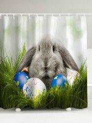 Easter Egg Rabbit Water Resistant Shower Curtain - COLORMIX