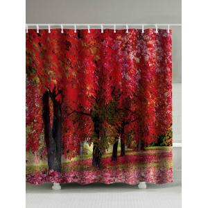 Tree Landscape Print Water Repellent Shower Curtain