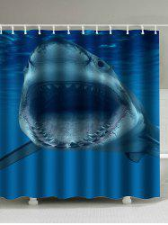 Sea Shark Print Mildewproof Waterproof Curtain - DEEP BLUE