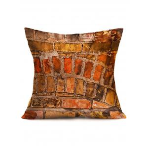 Natural Brick Wall Cotton Cloth Square Pillowcase