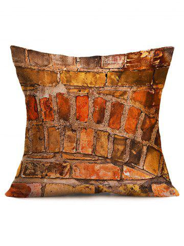 Shop Natural Brick Wall Cotton Cloth Square Pillowcase - 43*43CM BRICK-RED Mobile