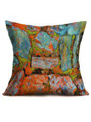 Natural Bricks Printing Decor Throw Pillowcase - COLORMIX