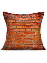 Retro Natural Brick Print Sofa Square Pillow Case
