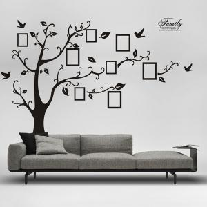 DIY Photo Frame Tree Home Decals Wall Stickers - Black - 60*90cm