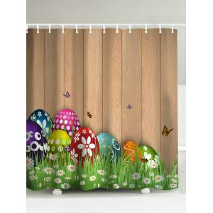 Happy Easter Colorul Eggs Shower Curtain - Light Brown - 180*200cm