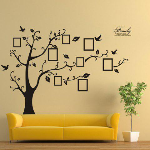 Shops DIY Photo Frame Tree Home Decals Wall Stickers - BLACK  Mobile