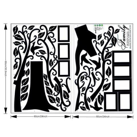 Sale DIY Photo Frame Tree Home Decals Wall Stickers - BLACK  Mobile