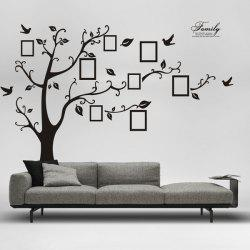 DIY Photo Frame Tree Home Decals Wall Stickers - BLACK
