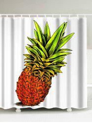 Pineapple Printed Water Repellent Shower Curtain