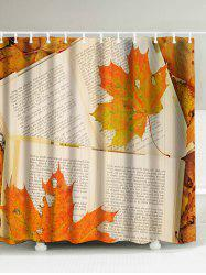 Maple Leaf Book Waterproof Polyester Shower Curtain
