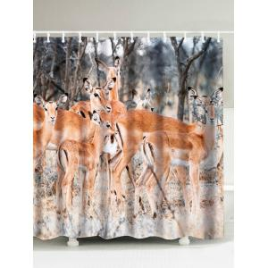 Deer Water Resistant Polyester Shower Curtain