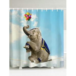 Elephant Water Resistant Polyester Shower Curtain